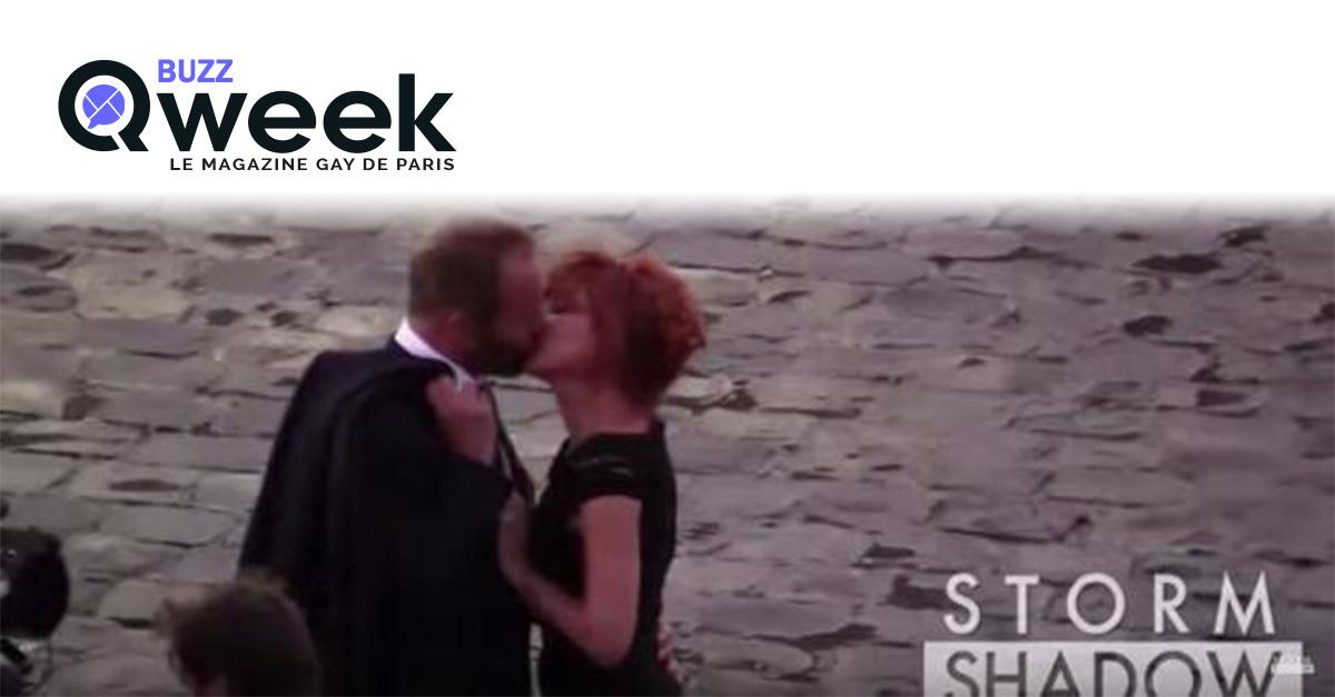 mylene farmer elle embrasse sting qweek le blog magazine gay gratuit. Black Bedroom Furniture Sets. Home Design Ideas